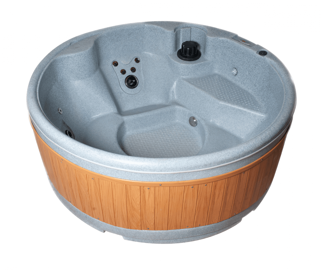 """The Orbis Price £3870.00 Whether for relaxation, therapy or just good fun, the Orbis circular spa is outstanding value-for-money. Its contours provide smooth, full depth seating and a generous foot well for the most natural resting position. Superb specification giving the ultimate massage experience. An entry step offers easy access and doubles as a child seat. Energy efficient electronics and environmentally friendly with one of the smallest carbon footprints available. Specifications: Standard Features Size 1800 mm exterior diameter 740 mm deep. Fits through standard doorway! Seating 4 persons Capacity 800 litres Weight 115kg dry(950kg filled) Electrical 240V, 13amp. Standard household power. Pump 1.5hp, Hi Flow 2 speed pump Heating 2kW In-Lineheater (dedicated instant heating on demand) Jets 3 x luxury hydrojets package to include the following fully interchangeable jets: • 9 x chrome jets • 1 x 5"""" rotating jet • 3 x 3"""" rotating jets Controls 'Silent' air control system (adjusts air stream in hydrojets) Control Digital touch pad control system with temperature display, demand heating and maintenance cycles (all adjustable and programmable) Ozone 24 hr Ozone Sanitation Jets Chrome jets Lighting Multicoloured LED 12 colour underwater light Features Entry step / child's seat Weatherproof beech effect / grey side panels Insulation Lockable thermal hard cover in brown or grey, built-in noise and heat insulation within spa shell Waterfall Tranquil light-up whispering waterfall feature. Colours Midnight blue, granite grey, light grey and sandstone Subject to terms & conditions OrbisSpa Whether for relaxation, therapy or just good fun, the Orbis circular spa is outstanding value-for-money. Its contours provide smooth, full depth seating and a generous foot well for the mostnatural resting position. Superb specification giving the ultimate massage experience. Warranty Information Optional Extras Wi-Fi Wi-Fi Module 5 years Shell 2 years Plumbing, parts and equipmeny."""