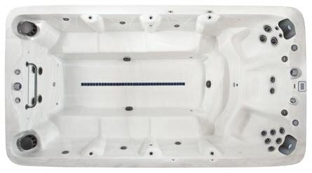 XB4 - £18,895.00 Swim Spa Specification Seating: 11 Size: 168″ x 90″ x 50″ / 427 x 228 x 127 cm Pumps: 2 Jets: 23 plus 4 swimjets Litres: 5956 The XStream XB4, is a 14ft spacious Swim Spa/Hot Tub Hybrid. Powered by Two 7hp Pumps the Xstream XB4 has a swim zone, 3 spa seats and side bench seating. It also has large Dual Cartridge Filtration, High Efficient Recycled Insulation, Latest Technology M7 Heating, MP3 / Bluetooth Stereo Music System with Bluetooth, Sub-Woofer & shell Speakers, LED Cup Holders & 20 bright underwater LED lights along with easy to read Deluxe programmable topside controls. Vita Construction: Vita Spa is proud to introduce the NEW Steel Frame Construction to the Swim Spa Series. 40% lighter, yet 250% stronger the traditional wood frames, our Steel Fame come with a Life Time Warranty. Also New to the Vita Swim Spa Series is our ABS SEALED BASE, which is an integral part of the support structure. This heavy duty one piece construction provides a very durable sealed base, locking in heat and protects your Spa from unwanted visitors, such as insects & mice who would otherwise move in to new central heated accommodation. Our ranges of Spas are finished with Excel-X™ maintenance free wood effect cabinet. Available in 2 attractive options, Coastal Gray or Mahogany Excel-X was designed to blend into any Home or Garden. Vita's Vital Energy Insulation System or Blue MAAX is the key to improved energy efficiency. Made from Recycled fabric, such as Jeans, Blue MAAX is a thick wall of thermal insulation that keeps the cold out but also reflects heat back through the Spa shell. Blue MAAX is so efficient that it complies too the Californian Energy Commission tough standards & is approved by the US Green Building Council, two awards that we are very proud of. Heating: Vita is proud to use the latest M7 Technology Heating System. Made from corrosive resistant Titanium this 3kw heater has long term durability and reliability, giving you peace of mind. Deluxe Spa 