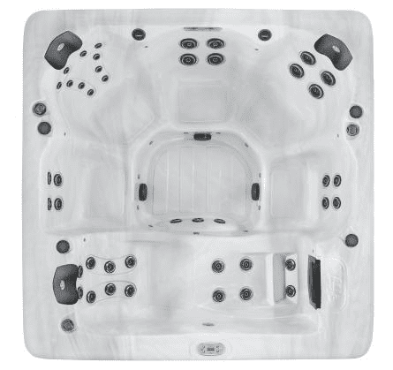 Sensation £8495.00 The Sensation is a large stylish 6 person Family Hot Tub with a lounger and 43 Stainless Steel Jets powered by Two 5hp pumps, offering Dual Cartridge Filtration, High Efficient Recycled Insulation, Latest Technology M7 Heating, MP3 Music System with Sub-Woofer, LED Waterfall, LED Cup Holders & 5 bright underwater LED lights along with easy to read programmable topside controls. Layout: Looking for a large family spa with plenty of room, then the Sensation is ideal. A Large lounger. three spacious corner seats offer controllable jetting layouts for a vagarious massage while two further massage seats complete this family all rounder. Vita Construction: We start with our Thermal sock base, PermaShield™. Designed to insulate the base against loss of heat, the base doubles up to protect your Spa from unwanted visitors, such as insects & mice who would otherwise move in to new central heated accommodation. Our ranges of Spas are finished with Excel-X™ maintenance free wood effect cabinet. Available in 3 attractive options, Pecan, Gray & Mocha Excel-X was designed to blend into any Home or Garden.